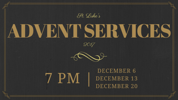 Advent Midweek Soup Supper & Services