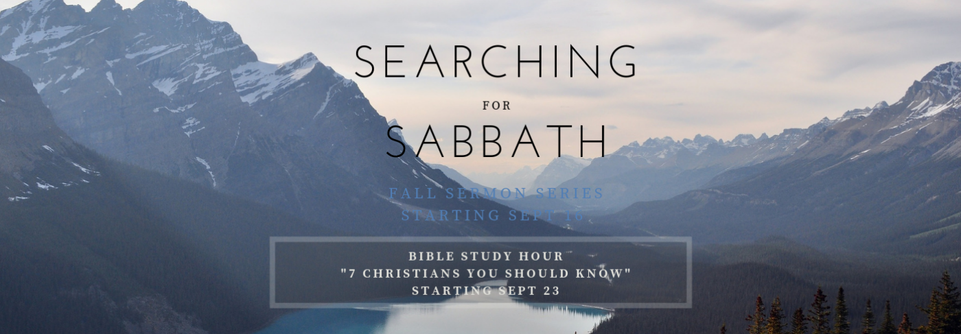Searching for Sabbath