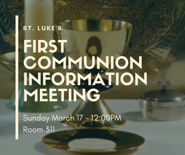 First Communion Information Meeting