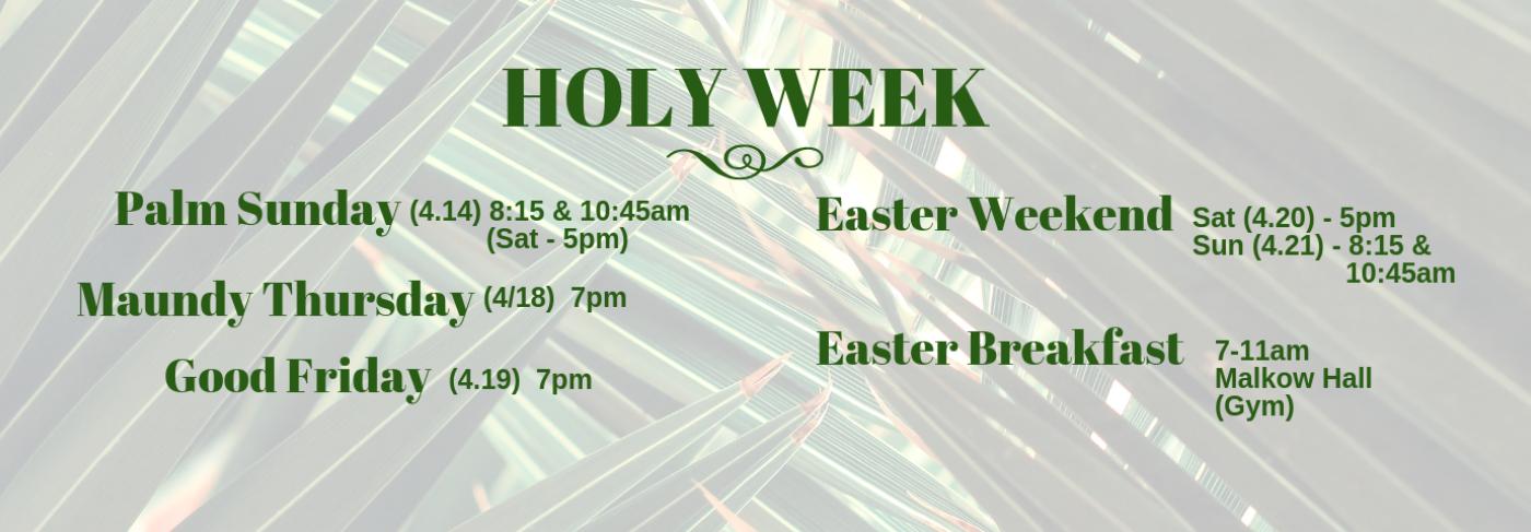 Holy Week-2019