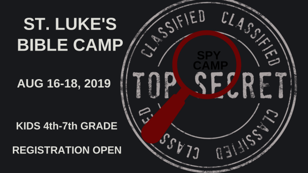 Register for Bible Camp - Spy Camp 2019
